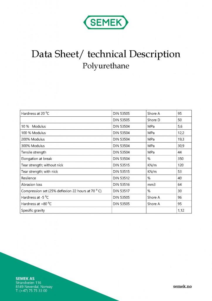 Data Sheet Polyurethane